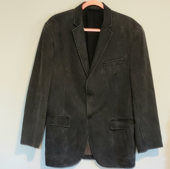 Calvin Klein Other - CALVIN KLEIN BLACK DENIM CASUAL SPORTCOAT SZ L